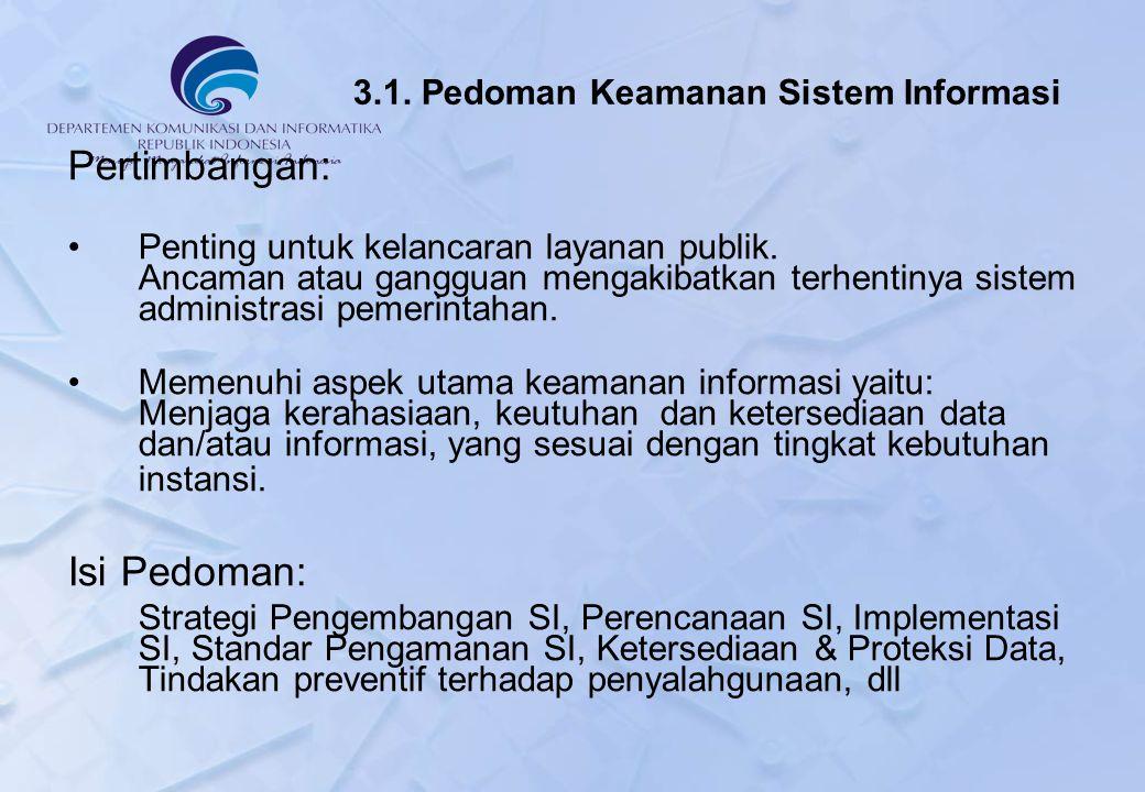 3.1. Pedoman Keamanan Sistem Informasi