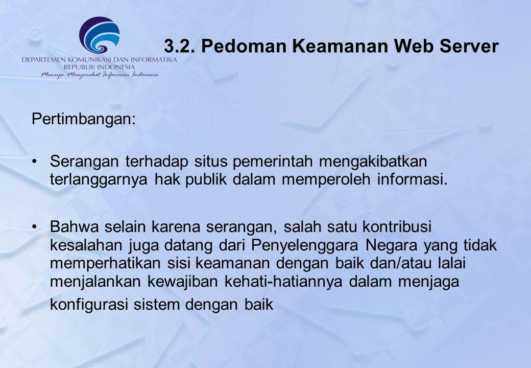 3.2. Pedoman Keamanan Web Server