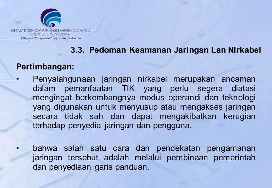 3.3. Pedoman Keamanan Jaringan Lan Nirkabel