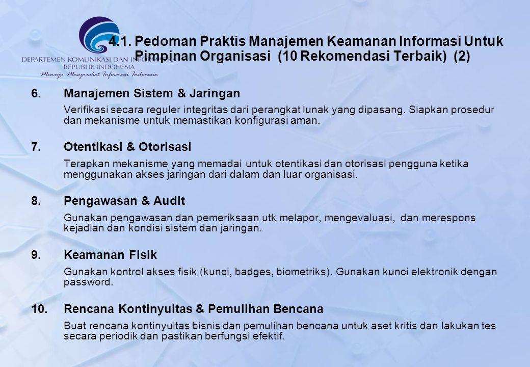 4.1. Pedoman Praktis Manajemen Keamanan Informasi Untuk Pimpinan Organisasi (10 Rekomendasi Terbaik) (2)