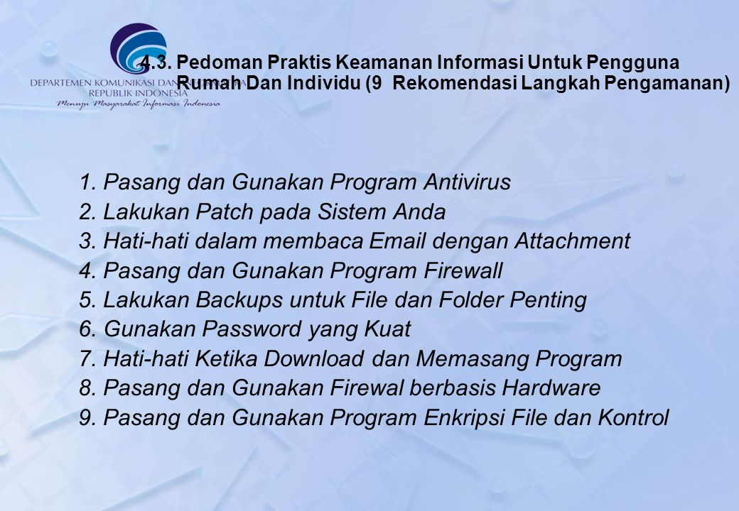 1. Pasang dan Gunakan Program Antivirus