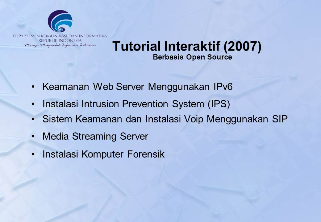 Tutorial Interaktif (2007) Berbasis Open Source