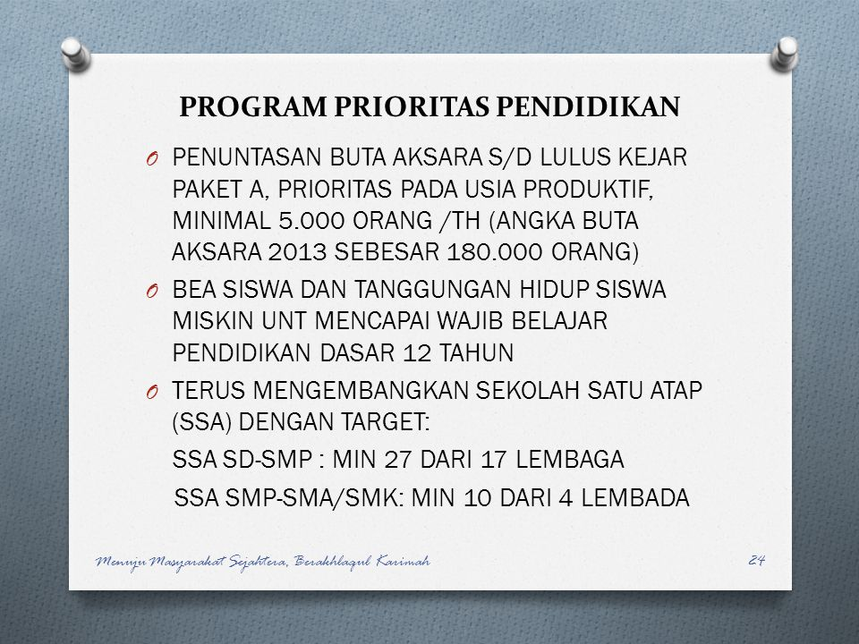 PROGRAM PRIORITAS PENDIDIKAN