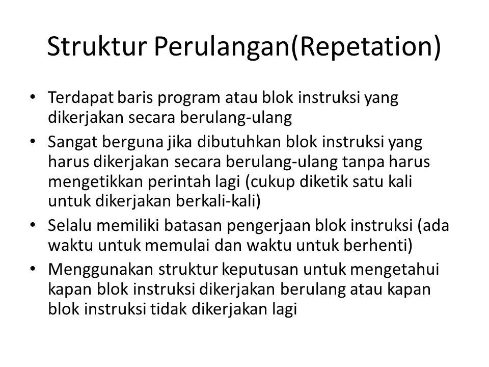 Struktur Perulangan(Repetation)
