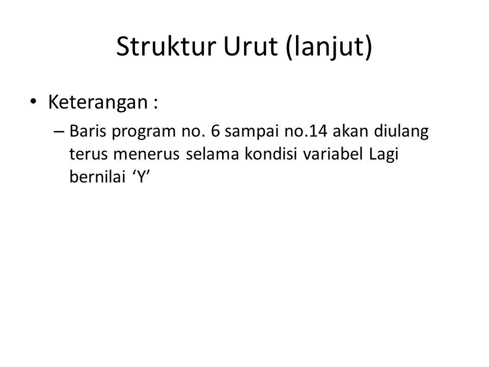 Struktur Urut (lanjut)