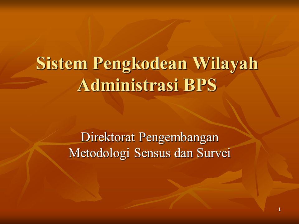Sistem Pengkodean Wilayah Administrasi BPS