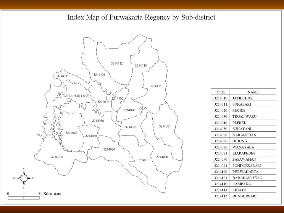 Peta Indeks Kabupaten Purwakarta Per Kecamatan