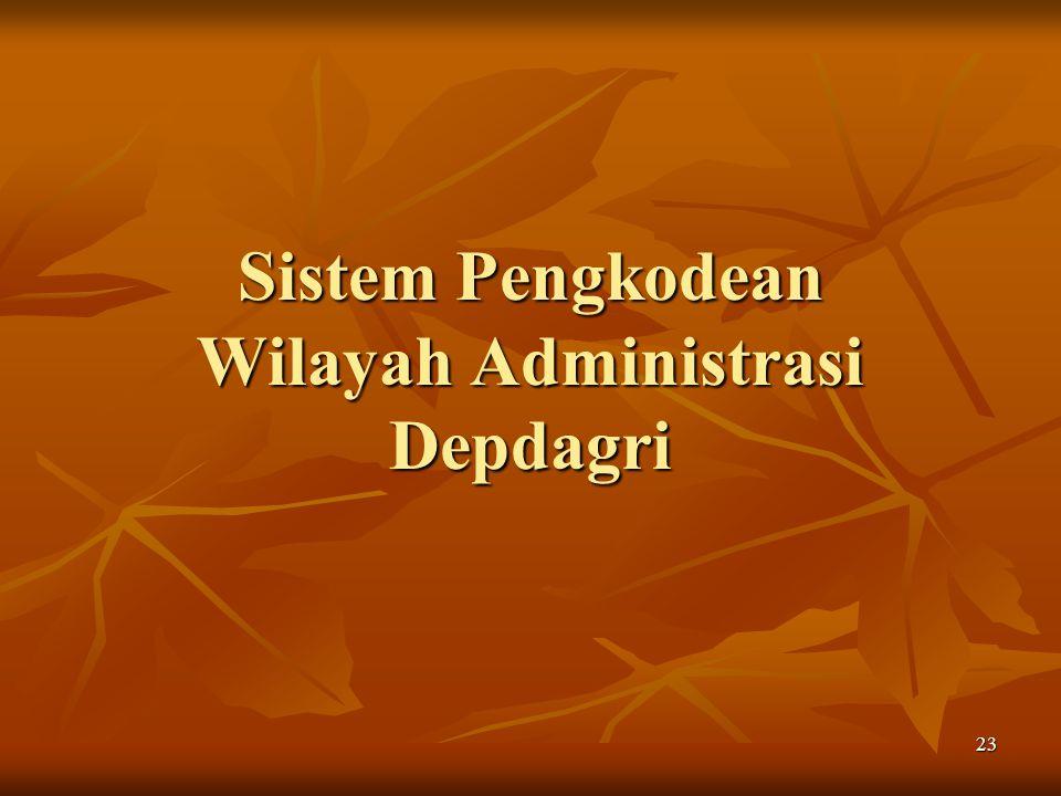 Sistem Pengkodean Wilayah Administrasi Depdagri