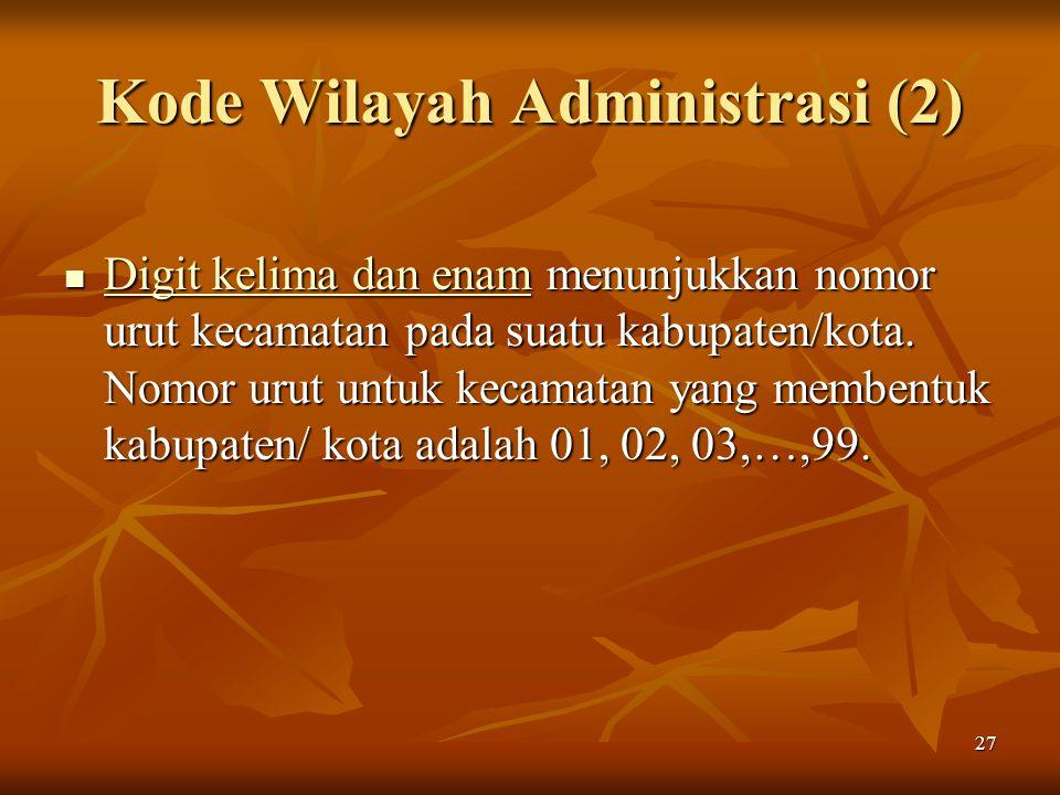 Kode Wilayah Administrasi (2)