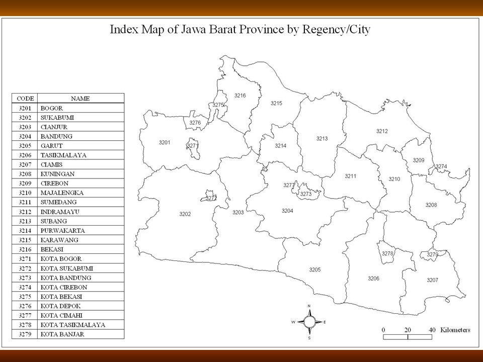 Peta Indeks Provinsi Jawa Barat Per Kabupaten/Kota