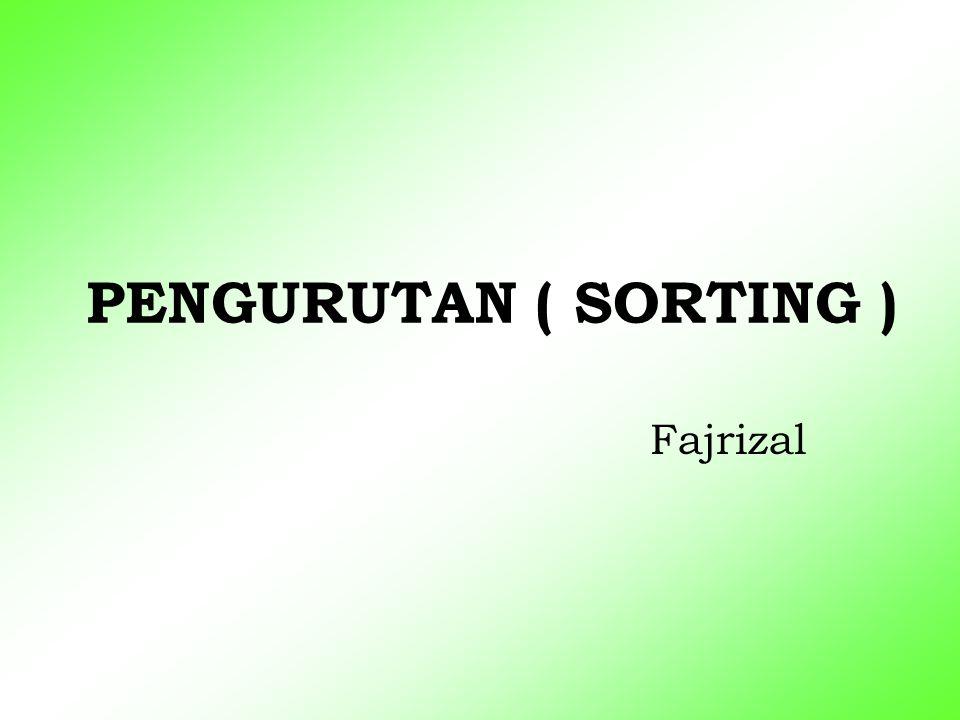 PENGURUTAN ( SORTING ) Fajrizal