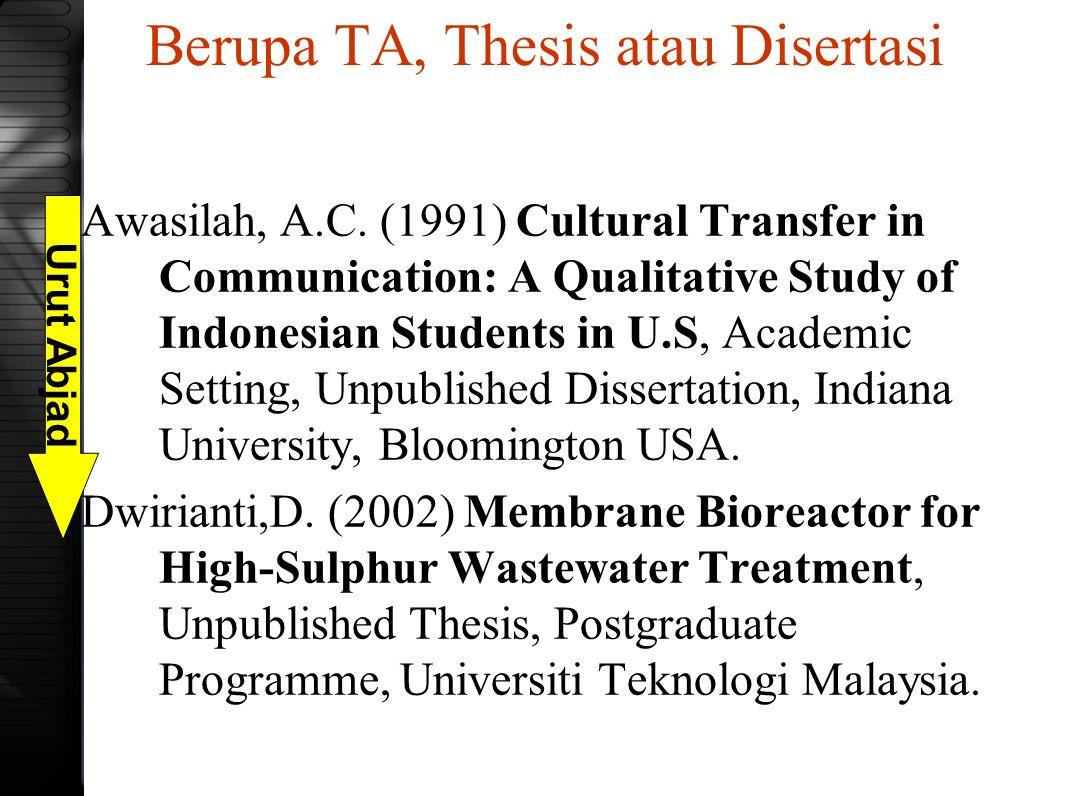Berupa TA, Thesis atau Disertasi