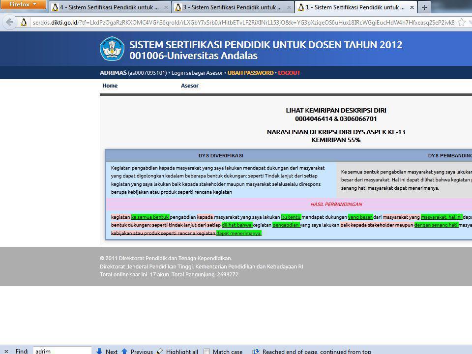 Sertifikasi Dosen 2012