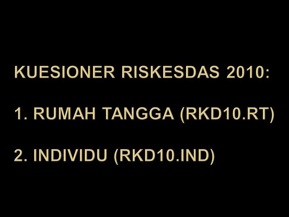 Kuesioner rISkESDAS 2010: 1. Rumah tangga (rkd10. rt) 2