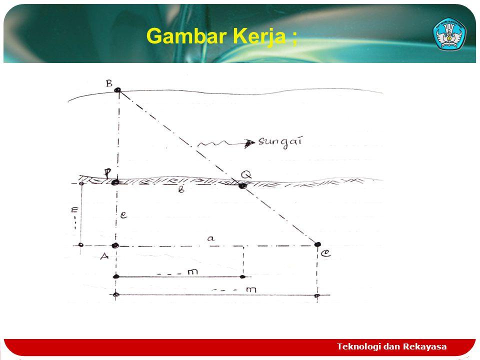 Gambar Kerja ; Teknologi dan Rekayasa