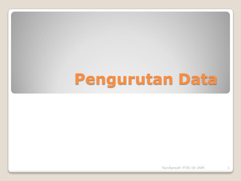 Pengurutan Data Nurdiansah PTIK 09 UNM