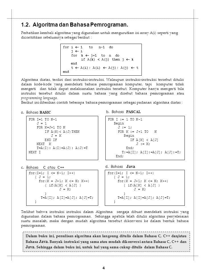 1.2. Algoritma dan Bahasa Pemrograman.