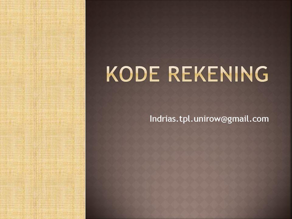 Kode rekening Indrias.tpl.unirow@gmail.com
