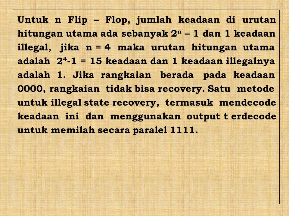 Untuk n Flip – Flop, jumlah keadaan di urutan
