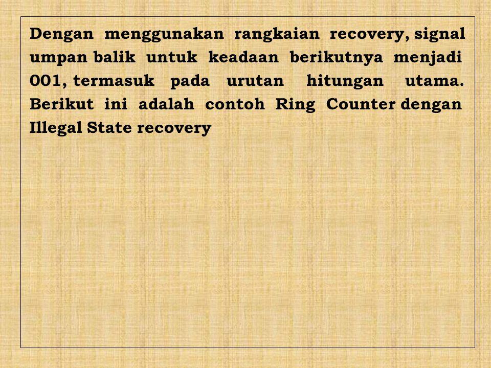 Dengan menggunakan rangkaian recovery, signal