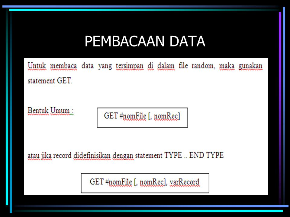 PEMBACAAN DATA