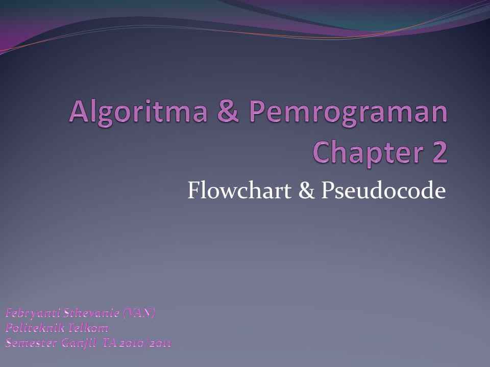Algoritma & Pemrograman Chapter 2