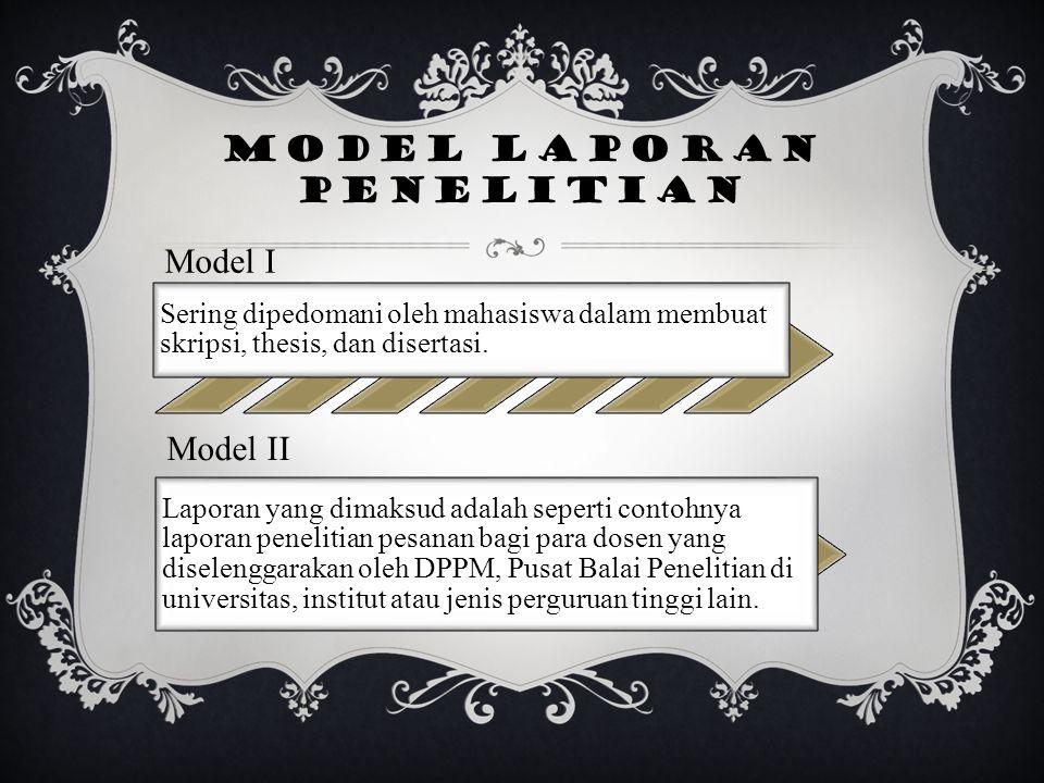 Model laporan penelitian