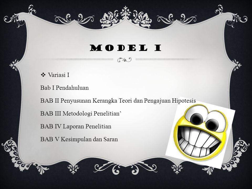 Model I Variasi I Bab I Pendahuluan