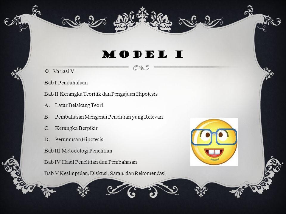 Model I Variasi V Bab I Pendahuluan