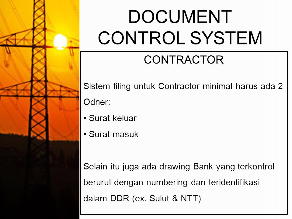 DOCUMENT CONTROL SYSTEM