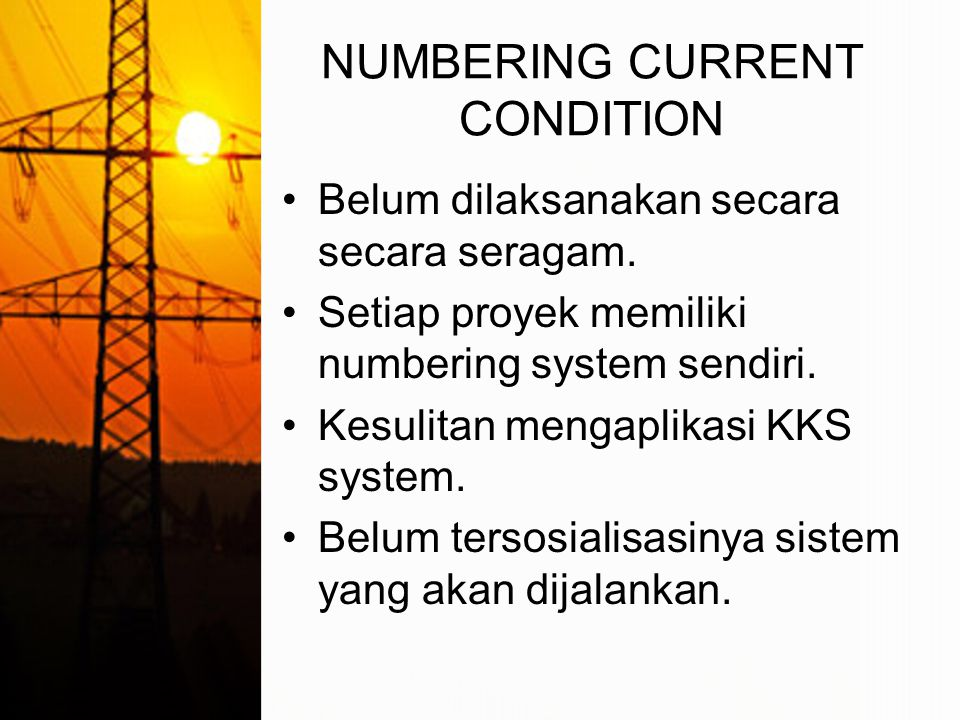 NUMBERING CURRENT CONDITION
