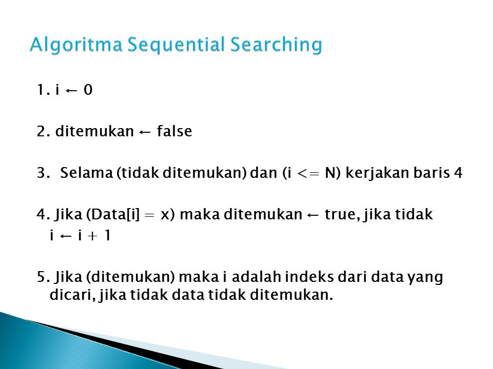 Algoritma Sequential Searching
