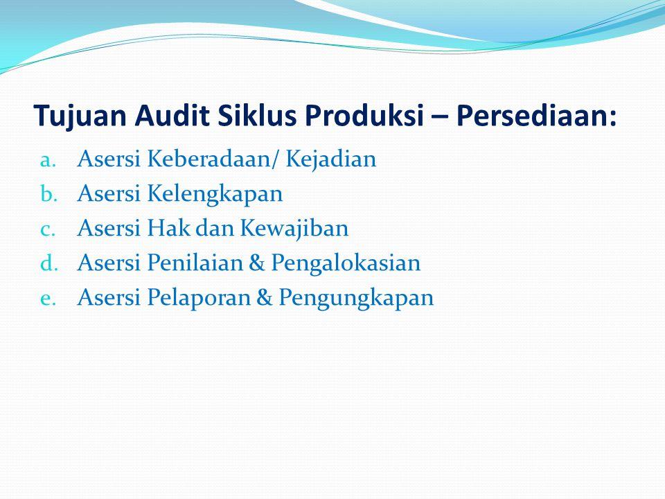 Tujuan Audit Siklus Produksi – Persediaan: