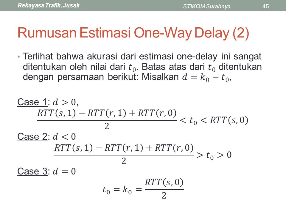 Rumusan Estimasi One-Way Delay (2)