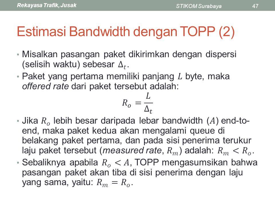 Estimasi Bandwidth dengan TOPP (2)
