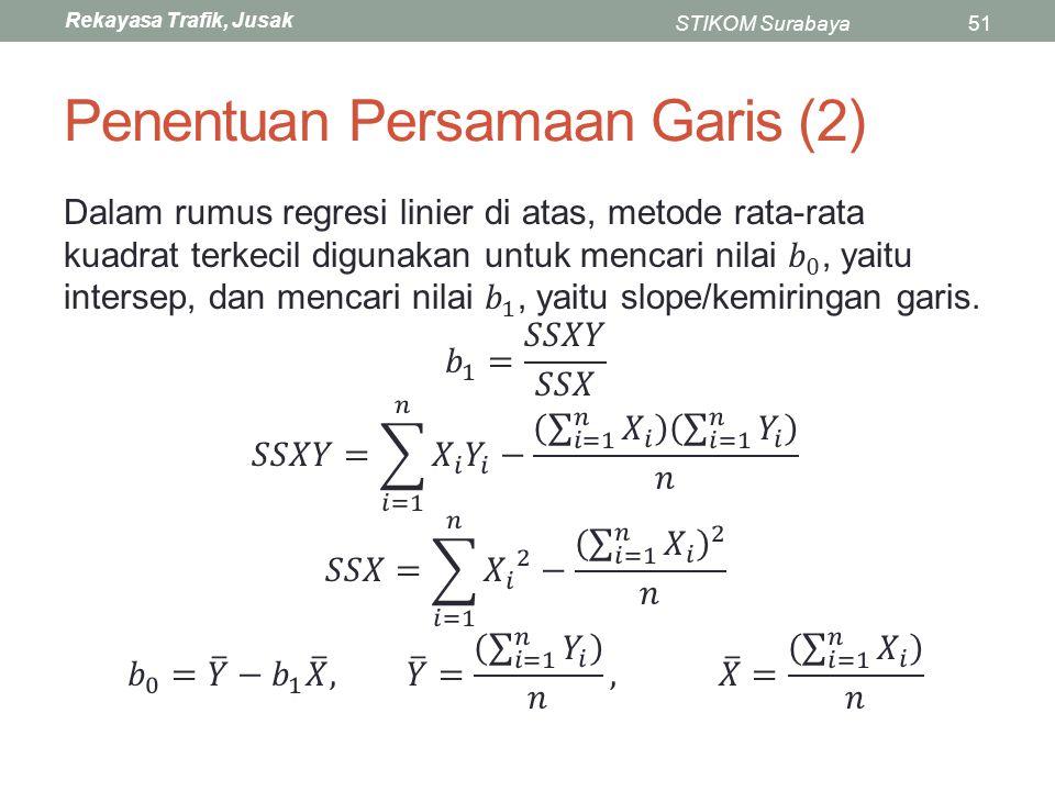 Penentuan Persamaan Garis (2)