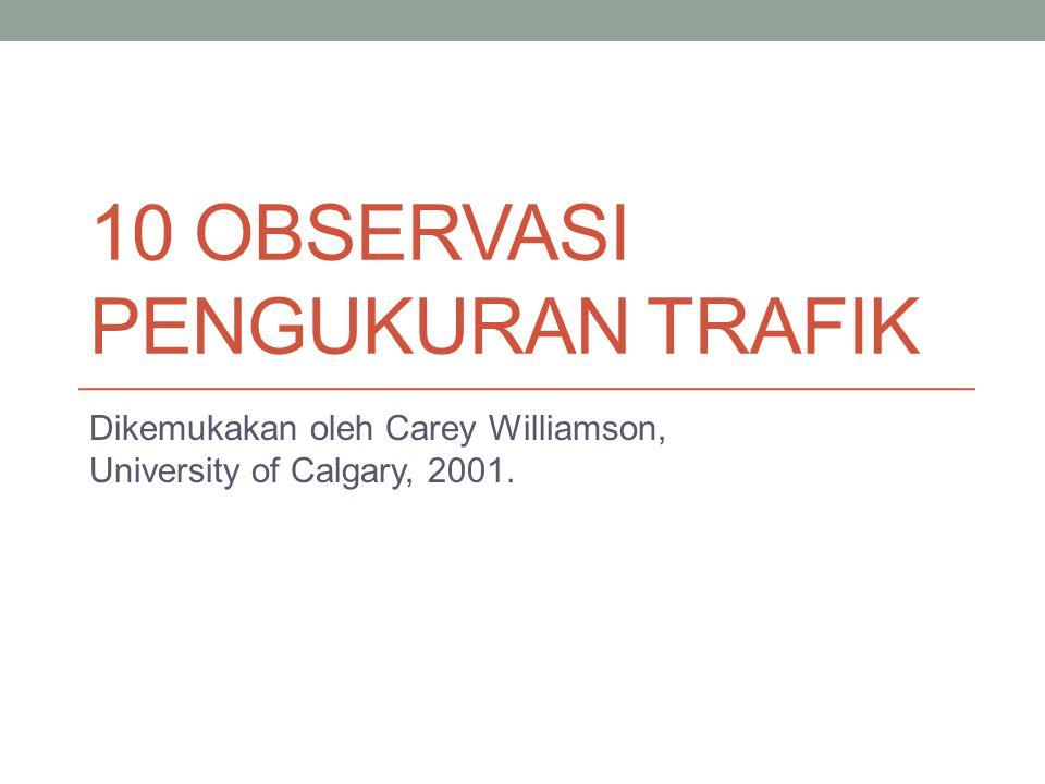 10 Observasi Pengukuran Trafik