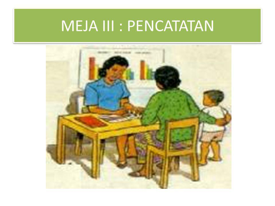 MEJA III : PENCATATAN