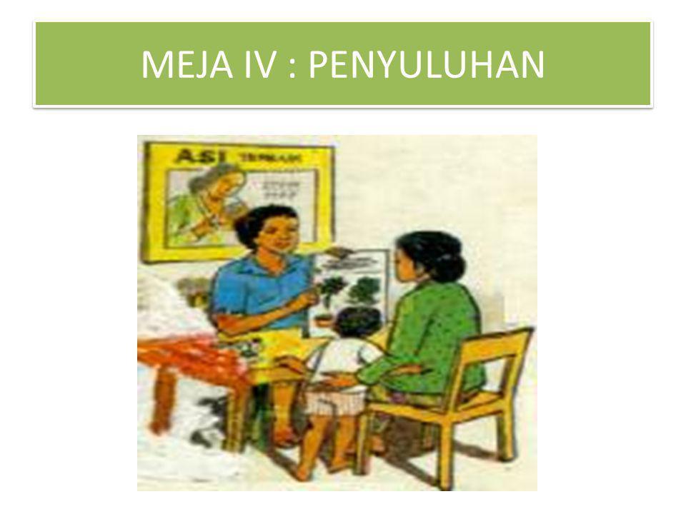 MEJA IV : PENYULUHAN