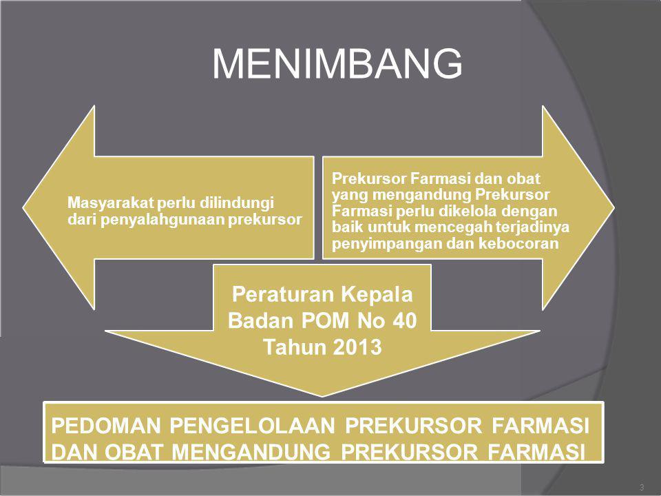 MENIMBANG Peraturan Kepala Badan POM No 40 Tahun 2013