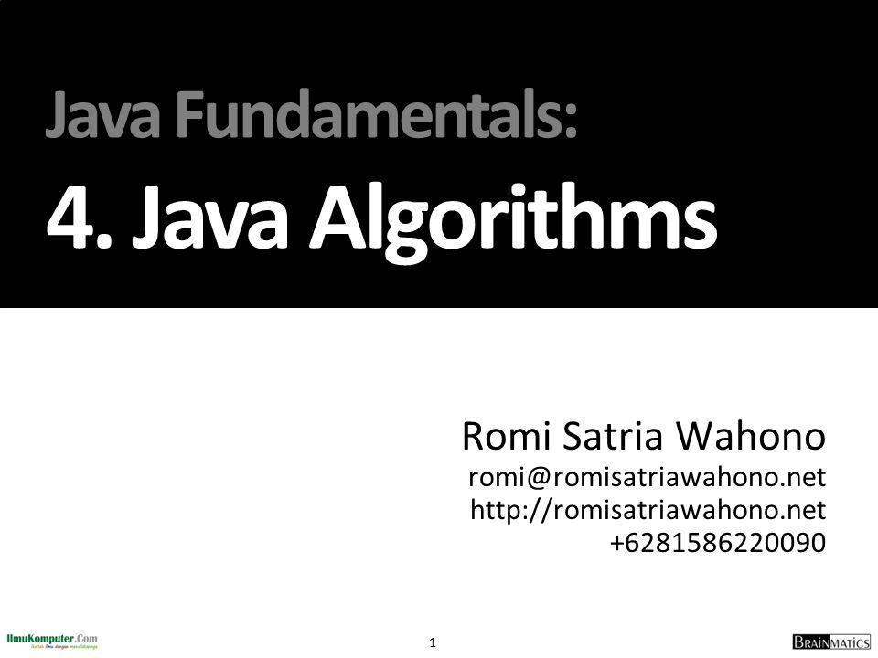 Java Fundamentals: 4. Java Algorithms