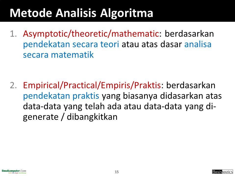 Metode Analisis Algoritma