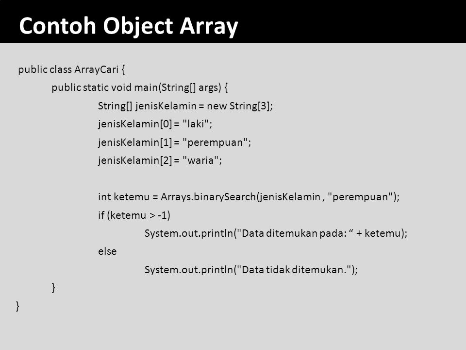 Contoh Object Array