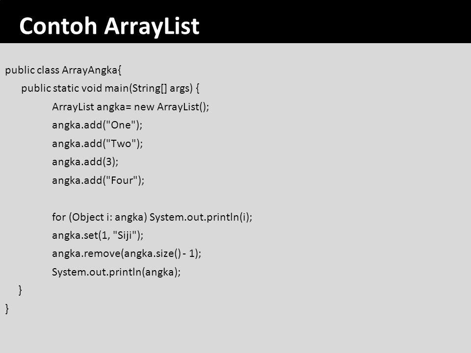 Contoh ArrayList