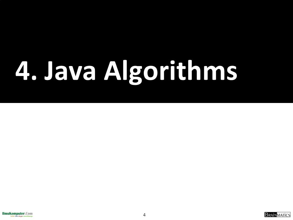 4. Java Algorithms