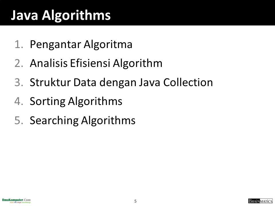 Java Algorithms Pengantar Algoritma Analisis Efisiensi Algorithm