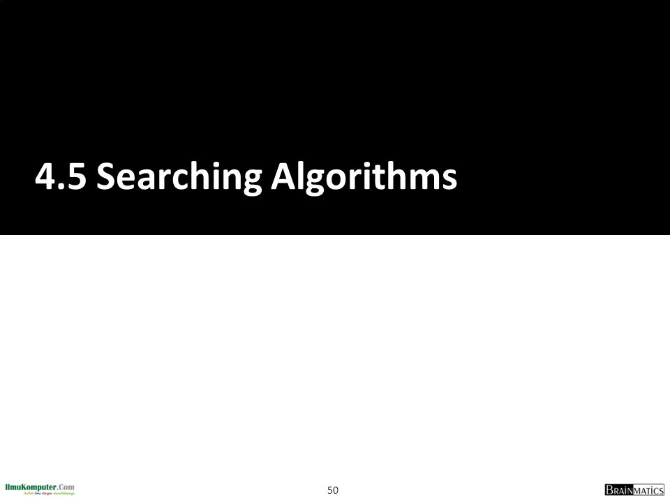 4.5 Searching Algorithms