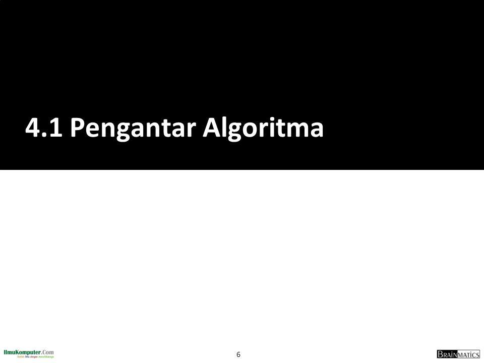 4.1 Pengantar Algoritma