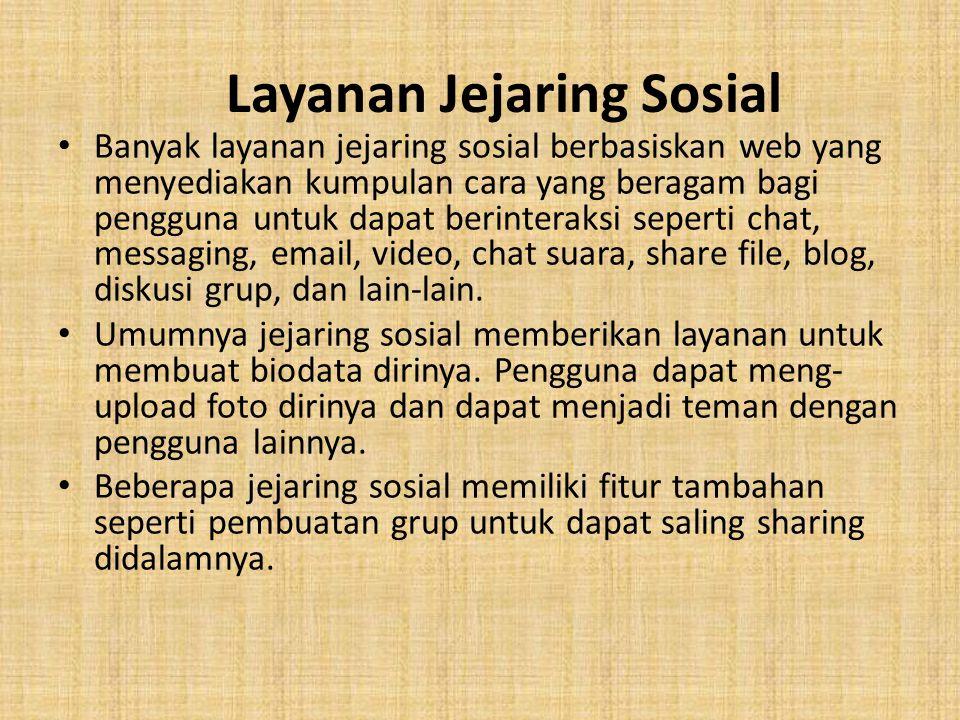 Layanan Jejaring Sosial