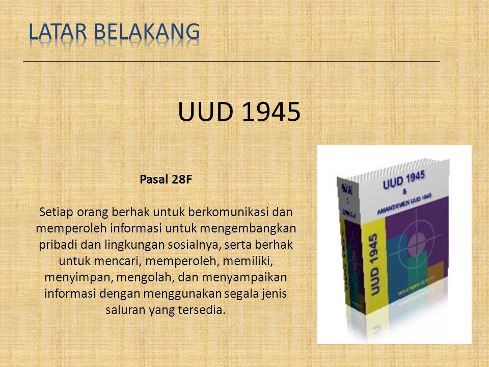 UUD 1945 LATAR BELAKANG Pasal 28F